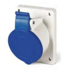 Shorepower Socket Flush Mount Female w/Cover 16A 220V