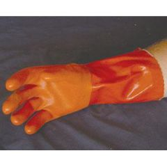 PVC Glove Double Thick Orange XLG