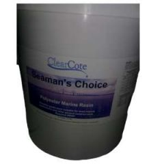 Polyester Boatyard Resin w/Hardener Kit Liquid 5 gal