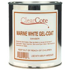 Gelcoat w/Wax & Hardener White 1 pt