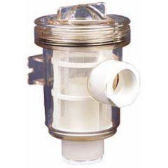"Water Strainer Plastic w/Nylon Filter Basket 1 1/2"""