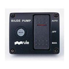3-Way Control Panel w/Fuse & Rocker Switch For Bilge Pumps 12V
