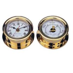"Barometer 4.5"" Solid Brass"