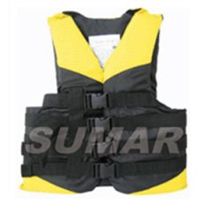 Yellow Ski Vest w/4 straps 70 Newton L