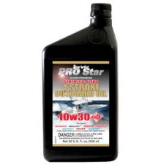 10W30 Four Stroke Outboard Oil Pro Star Synthetic Blend 32 oz
