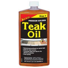 Teak Oil Premium Gold Step Three Liquid 32 oz