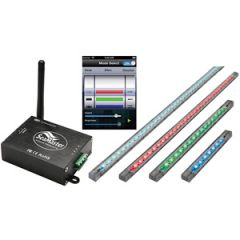 "LED Light Kit w/WiFi Remote + 4 x 20"" RGB LED Light Strips 12/24v"