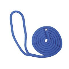 "Dockline Double Braid Navy Blue 16 mm x 25 ft x 12"" Eye"