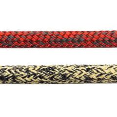 Rope Super-T Braid w/Technora & HT Polyester Black/Red 6 mm