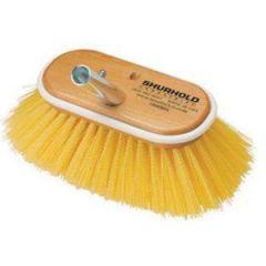 "Deck Brush Soft Yellow Bristle 6"""