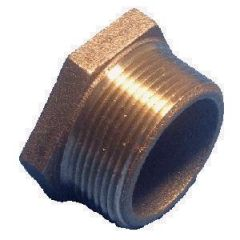 "Bushing HEX Head NPTM x NPTF Brass 1 1/2"" x 1"""
