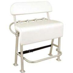 Neptune III Leaning Post w/Backrest Aluminium w/Smooth Upholstery