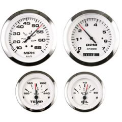 Instrument Gauge Oil Lido Series 0-80 psi 2""