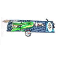 Tormenter Fishing Lure, Wahoo Bomb Green/Gold Rigged