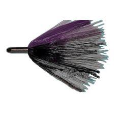 Silver Bullet-Hair Lure Rigged Black/Purple