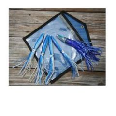 """Tormenter Tuna Bandit Squid Chain, Rigged W/Pink /Birds 9"""""""