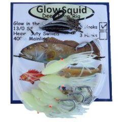 Tormenter Glow Squid Deep Drop Rig 5-Drop 13/0SS Circle Hks