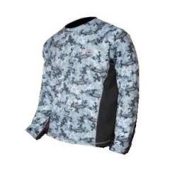 SPF50 Shirt Marlin Camo Gray Large