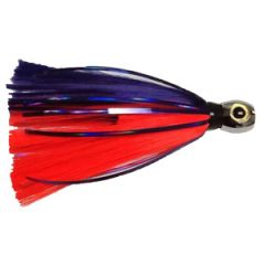 "Iland Lures Sea Star Flasher Plum/Electric Red 6.75"" 1.5oz"