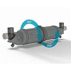 """Exhaust Muffler/Gooseneck LLPH75 Rotatable 75mm (3"""")"""