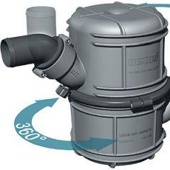 "Exhaust Waterlock NLP75 Plastic Vertical Dual Stage 75mm (3"")"