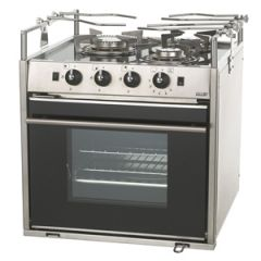 Dometic Stove Moonlight Three Burner w/Oven/Grill/Hob Gimballed Propane