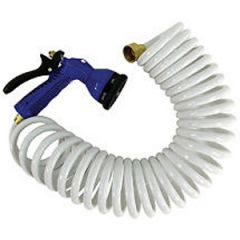 Hose Self Coiling Flex Relief w/Nozzle Blue 50 ft