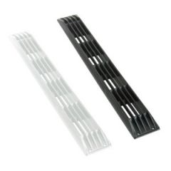 "Louvered Vent Nylon Black 17 1/4"" x 2 1/2"""