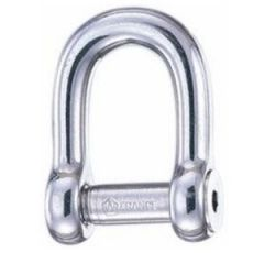 """D"" Shackle w/Allen Key 316 Stainless Steel 6mm"