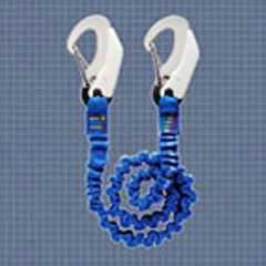 Tether Elestic Webbing w/Stainless Steel Carbine Hooks Blue 1 m To 2 m