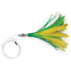 """Williamson Flash Feather Lure Rigged Yellow/Green 5"""""""