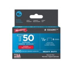 "STAPLES - HEAVY DUTY (T50) MONEL 1/4"" - 1000PK"