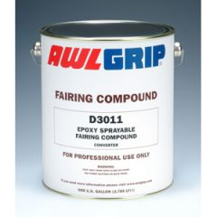 Epoxy Sprayable Fairing Compound Converter D3011Two Part Liquid 1 gal